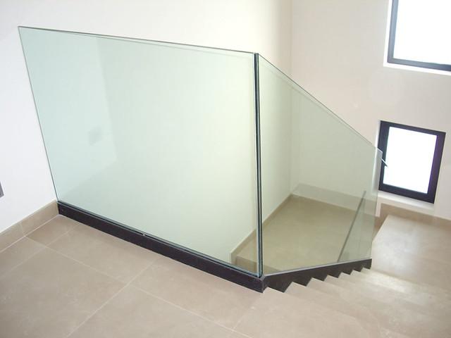 barandilla de vidrio para escalera barandilla de cristal