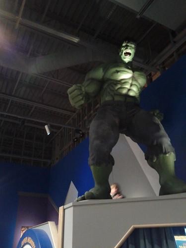 The Blur Behind Hulk's Foot