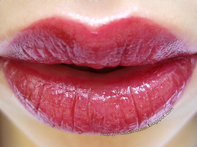 sleek cranberry lip swatch