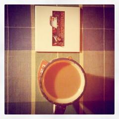 @TeaPartyNu tile coaster & Namdang tea #teaFTW