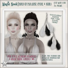 [MAGIC NOOK] Bird Of Paradise (Pure & Noir) - dollarbie gift - available now!