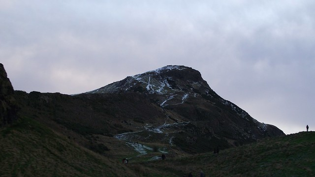 Arthur's Seat, December day, first snow