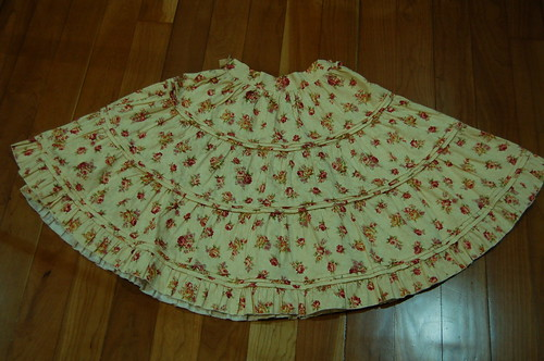 Lolita Closet Count! Skirts: Cream-Yellow - Bodyline Floral Beige Skirt