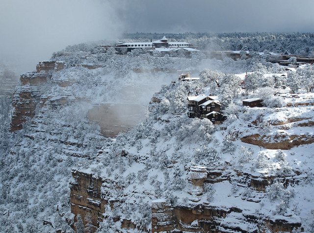 Grand Canyon National Park: South Rim Village in Winter 1657