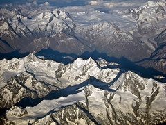 photo avion alpes suisse