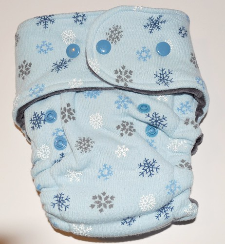 Winter Snowflakes Bumstoppers One Size Fitted with Cotton Velour inner