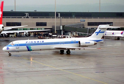 Finnair MD-87; OH-LMB@ZRH;11.04.1996