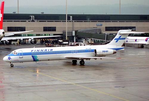 Finnair MD-87; OH-LMB@ZRH;11.04.1996