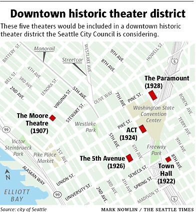 Proposed Historic Theater District, Seattle