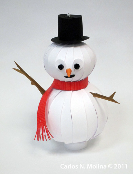 Paper snowman flickr photo sharing for How to make snowman with paper