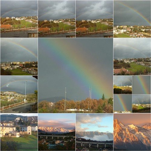 Monday's rainbows ... somewhere over them ....