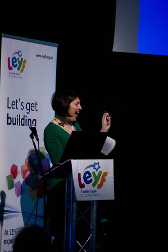 June O'Sullivan addresses staff at the LEYF Annual Conference
