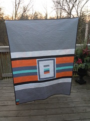 Back of Patchwork Squared Modern Solids Quilt Along