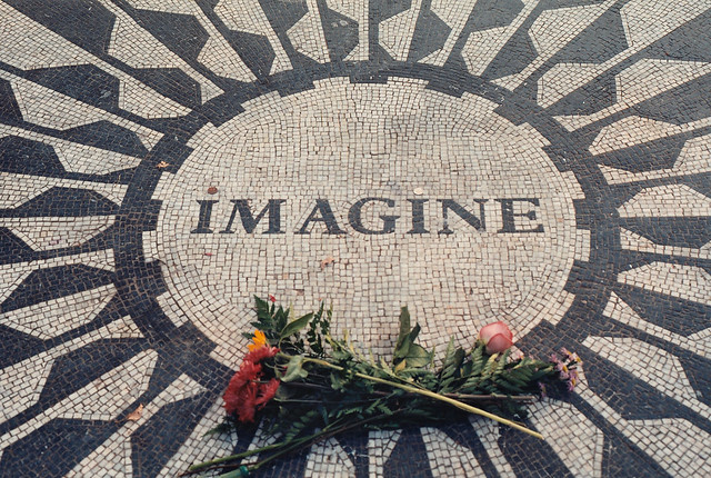 Imagine: John Lennon Mosaic in Strawberry Fields
