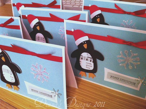 Cricut Penguin Christmas Cards