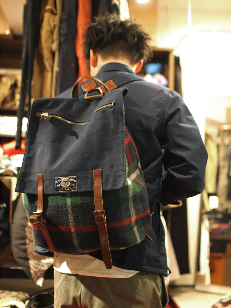 Rugby / Plaid Wool & Canvas Backpack