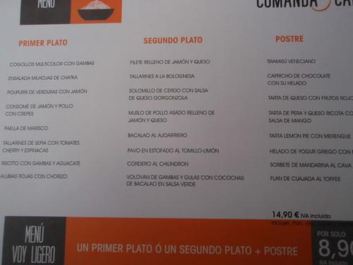 Pamplona | Comanda & Café | Menú