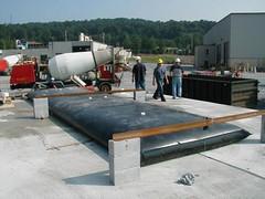 Water tank slab load test