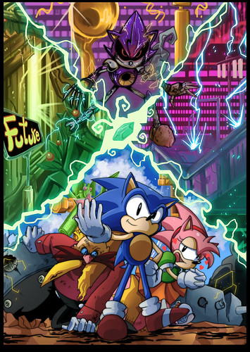Sonic CD Fan Art Contest Winner - Europe