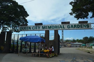 entrance to Chinese cemeterey Queen City Gardens in Cebu City in the Philippines