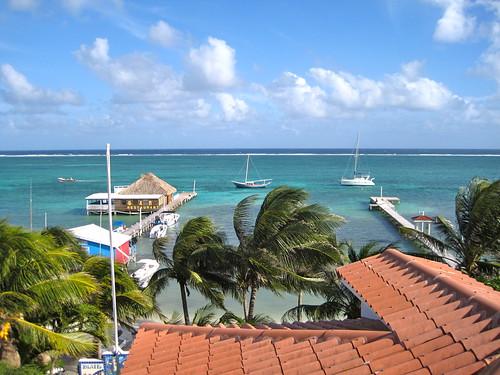 beachfront resort san pedro ambergris caye private dock belize