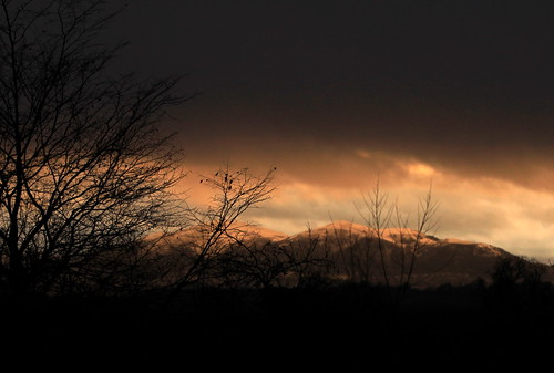 Sunset - Malvern Hills from Hallow
