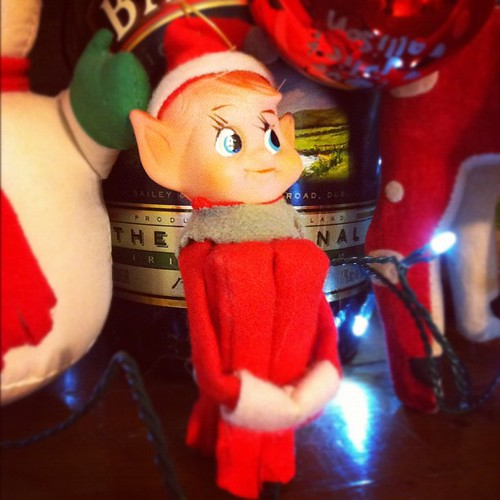 Hugging elf.