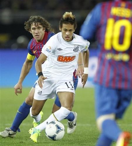 Neymar da Silva vs Puyol