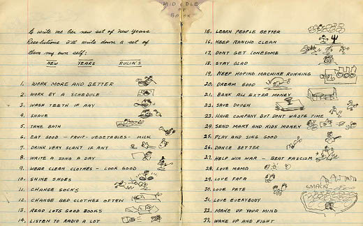 Woody Guthrie's Resolutions