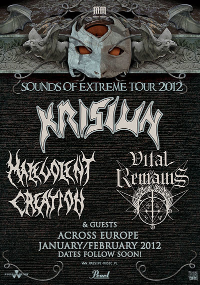 Krisiun Malevolent Creation Vital Remains UK tour 2012 Manchester London Dublin