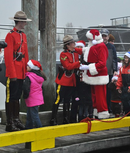 Santa Arrives in Steveston