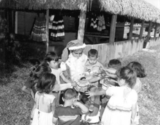 Seminole Tribe of Florida Chairman Billy Osceola as Santa Claus: Hollywood Seminole Indian Reservation, Florida