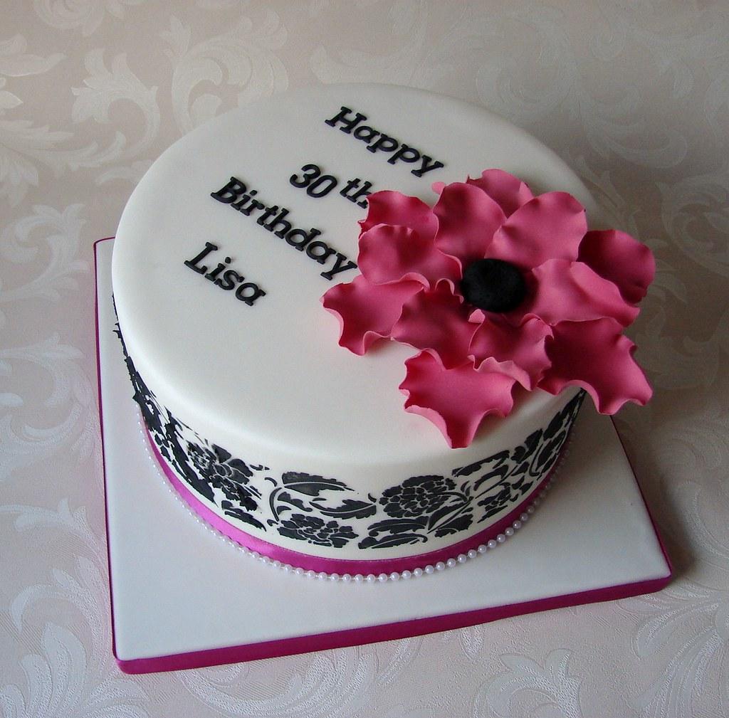 Elegant 30th Birthday Cake Rubyteacakes Flickr