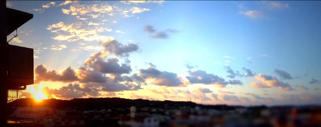 おはようございます。今朝の空、綺麗だったー