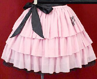Metamorphose chiffon skirt