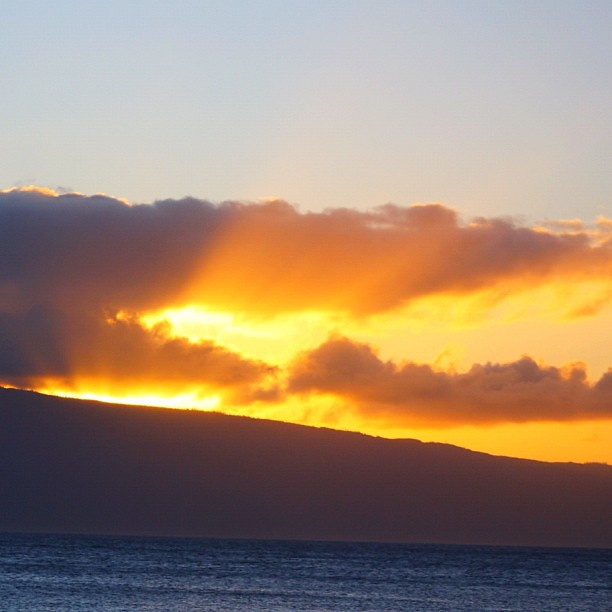 Sunset over Lanai