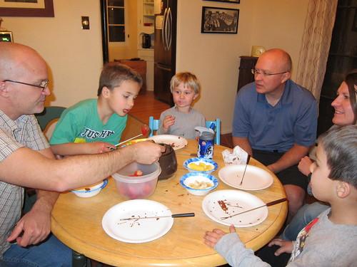 Chocolate fondue, round 2