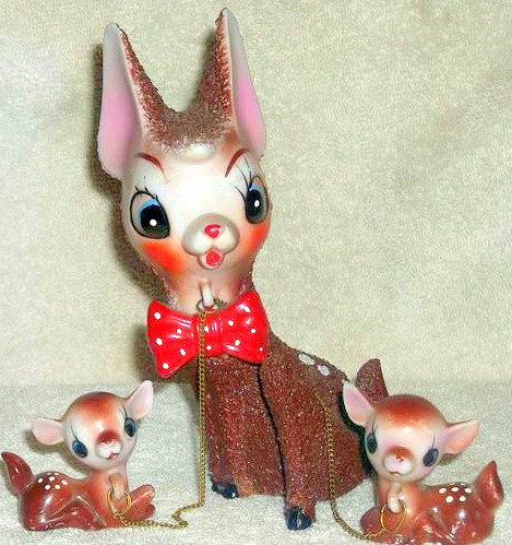 Vintage 1950's  Doe & Fawn Figurines by socal72girl