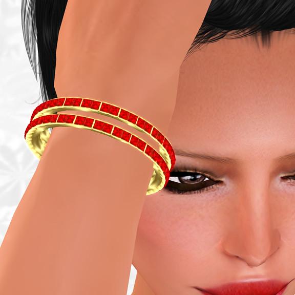 FineSmith Gold&Red Hunt Item 11: Shae Bracelet Gold & Red