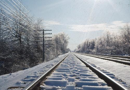 railroad winter usa snow newjersey unitedstates slide 1967 kodachrome erie lackawanna ridgewood hohokus
