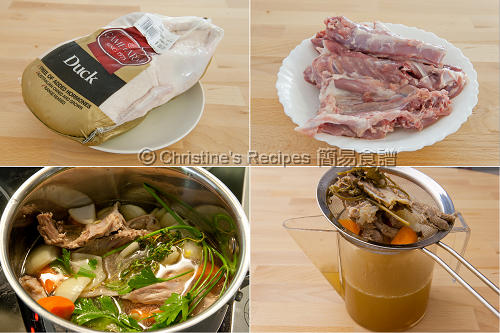 鴨上湯製作圖 Duck Stock Procedures