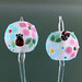 Earring pair : Ladybug in blue