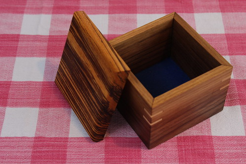 Mini Walnut Jewelry Box