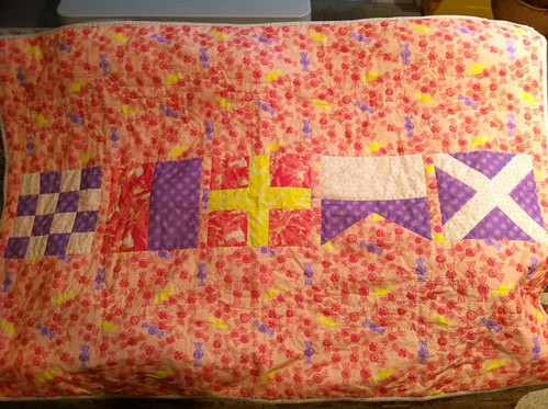 Maren's Flag Quilt Completed