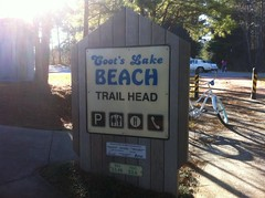 Coots Lake Beach Sign