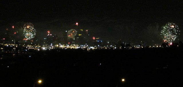 NYE Fireworks, from Footscray