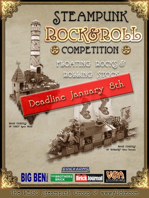 REMINDER - Rock & Roll Steampunk deadline is January 8th!
