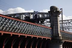 Railway signals on the Glasgow Central Station Bridge