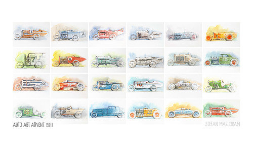 All 24 Advent Cars by Stefan Marjoram