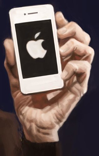digital caricature of Steve Jobs - 4